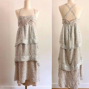 J. Crew Collection Silk dress w/ Daisy Pattern